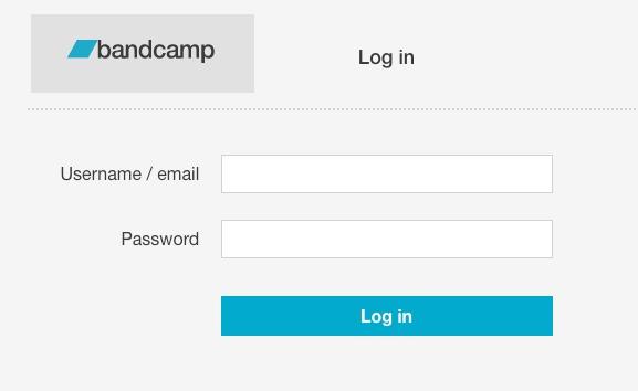 Bandcamp Login